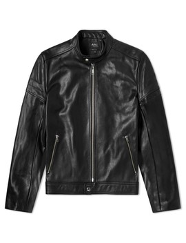 A.P.C. Coffee Racer Leather Jacket by A.P.C.