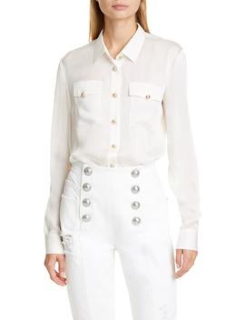 Silk Charmeuse Shirt by Balmain