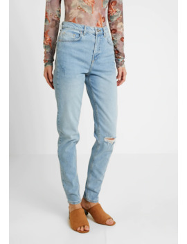 Pcleah Mom Destroy   Jeans Tapered Fit by Pieces Tall