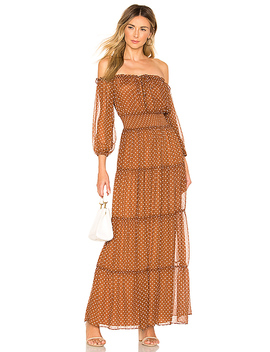 X Revolve Sapphire Dress In Brown by House Of Harlow 1960