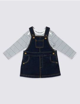 2 Piece Bodysuit & Pinafore Outfit by Marks & Spencer