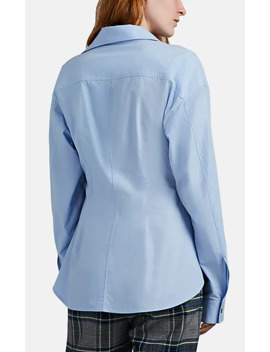 Draped Cotton Poplin Shirt by Cedric Charlier