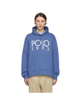 Blue '1992' Hoodie by Polo Ralph Lauren