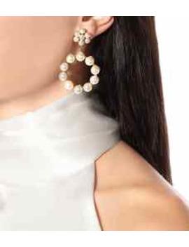 Leilani Peal Encrusted Earrings by Jennifer Behr