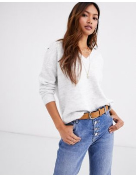 Pimkie V Neck Jumper In Grey by Pimkie
