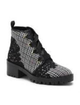Parker Lace Up Combat Boot by Karl Lagerfeld