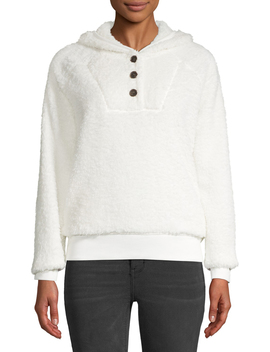 Women's Sherpa Pullover by Time And Tru