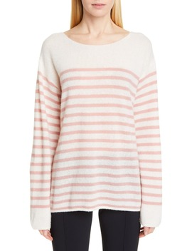 Stripe Cashmere & Silk Bateau Neck Sweater by Adam Lippes