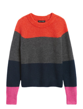 Petite Aire Color Blocked Sweater by Banana Repbulic