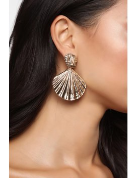 Strolling The Beach Shell Earrings   Gold by Fashion Nova