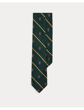 Wool Silk Narrow Club Tie by Ralph Lauren