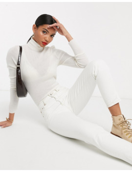 &Amp; Other Stories Roll Neck Merino Jumper In Off White by & Other Stories