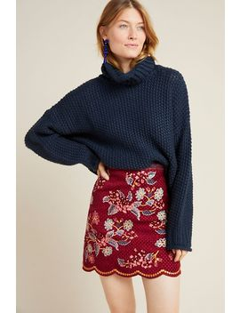 Catie Textured Mini Skirt by Maeve