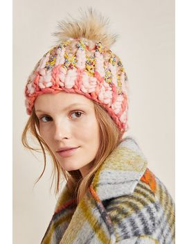 Big Sky Pommed Beanie by Knit Collage