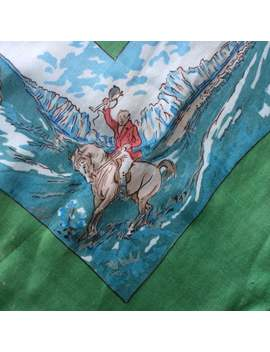 Vintage Liberty Of London, Equestrian Scarf W Steeplechase by Etsy