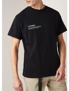 Mission Statement T Shirt Met Logopatch En Doorgestikte Details by A Cold Wall