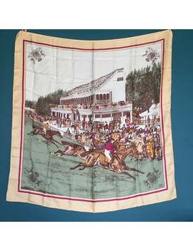 Liberty Vintage Silk Scarf With Horse Racing Theme. by Etsy