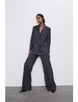 Proste Spodnie W Tenisowy PrĄŻek by Zara