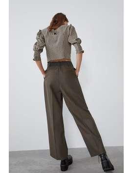 Spodnie Od Garnituru W WielobarwnĄ KratĘ by Zara
