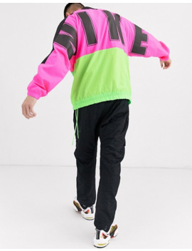Nike Overbranded Track Jacket In Pink by Nike