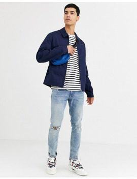 Asos Design   Harrington Jack In Marineblauw by Asos Design