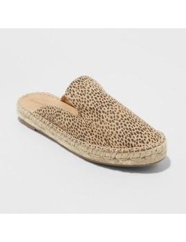 Women's Clara Leopard Espadrille Flat Mules   Universal Thread™ by Universal Thread