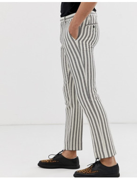 Twisted Tailor Super Skinny Pants With Textured Stripe by Twisted Tailor