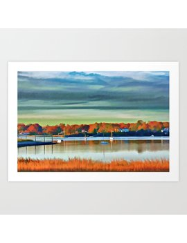 Colors Of Autumn By The Water Art Print by Society6