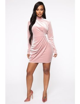 Ms. Blair Velvet Mini Dress   Mauve by Fashion Nova