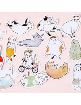 45pcs/Pack Paper Sticker, Cat Sticker, Sticker Pack, Cute Stickers, Fat Cat Stickers, Funny Sticker, Kitty Sticker, Animal Sticker by Etsy