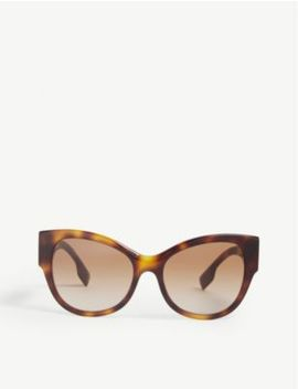 B4294 Cat Eye Frame Havana Sunglasses by Burberry