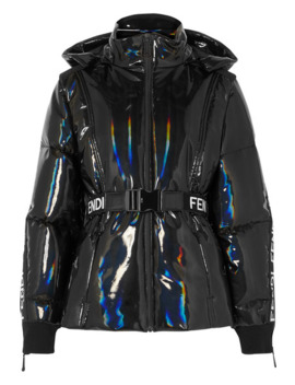 Appliquéd Holographic Down Ski Jacket by Fendi