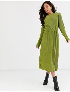 Glamorous Tall Midi Dress In Plisse by Glamorous