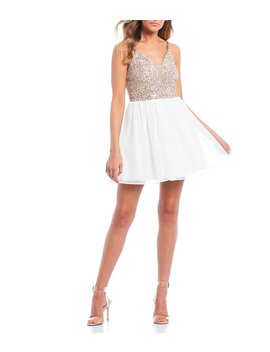 Halter Neck Lace Bodice Fit & Flare Dress by Xtraordinary