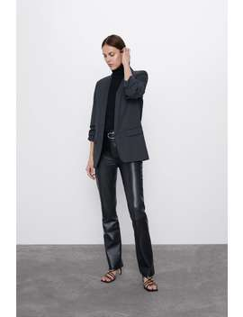Blazer With Rolled Up Sleeves by Zara