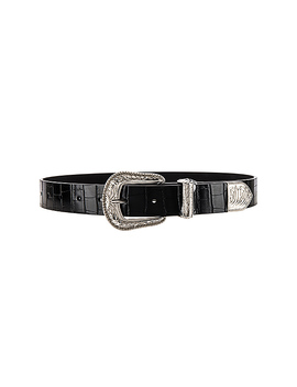 Venom Croco Belt In Black by Lovers + Friends