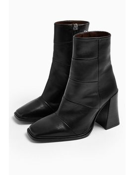 Hartley Leather Black Boots by Topshop