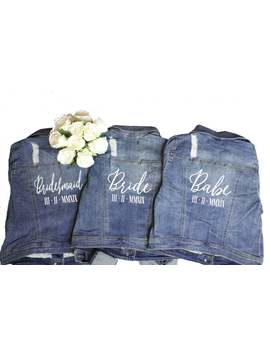 Wedding Jacket. Wedding Denim Jacket. Custom Denim Jacket. Personalized Jean Jacket. Wedding Jean Jacket. Bride Denim. Bridesmaid Denim. by Etsy