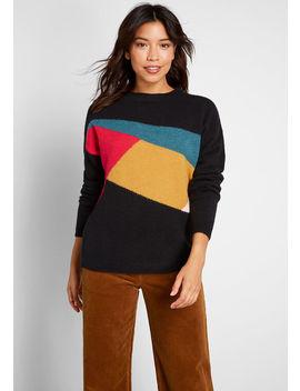Abstract Allure Colorblocked Pullover by Sugarhill Brighton