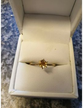 9ct Gold Solitaire Cz Ring by Ebay Seller