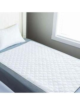 Absorbent Waterproof Cotton Blend Sheet Protector   34 In. X 52 In. by Linenspa