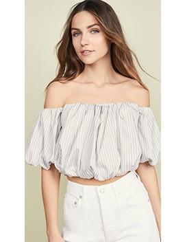 Striped Off Shoulder Cotton Top by 3.1 Phillip Lim