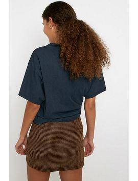 Urban Renewal Inspired By Vintage Tara Checked Pelmet Skirt by Urban Renewal