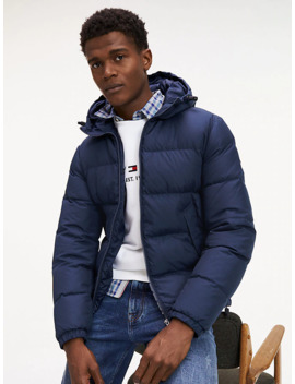 Recycled Down Hooded Bomber by Tommy Hilfiger