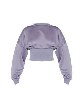 Charcoal Grey Rib Extreme Hem Crop Sweater by Prettylittlething