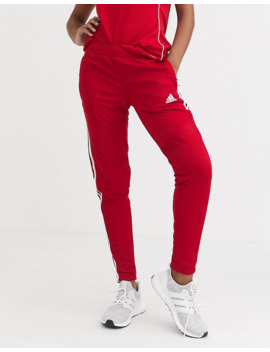 Adidas Soccer Tiro Training Pants In Red by Adidas