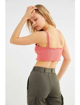 Out From Under Savannah Mesh Strap Cropped Hem Vest by Out From Under