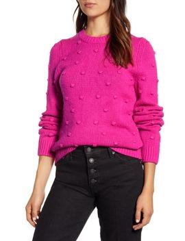Bobble Stitch Crewneck Cotton Blend Sweater by Lucky Brand