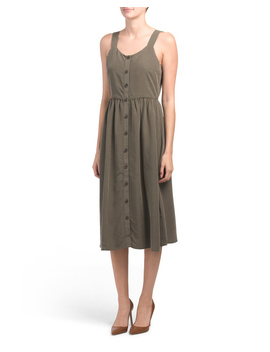 Button Front Midi Dress by Tj Maxx