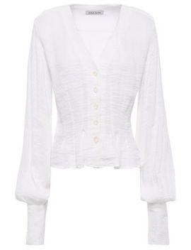 Casey Textured Linen Blend Blouse by Anna Quan